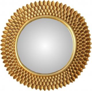 Casa Padrino Barock Wandspiegel Rund Antik Gold Durchmesser ca 78 cm - Antik Look