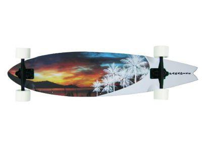 Paradise Longboard Skateboard Frost Pintail 46x9, 25 inch