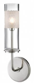 Casa Padrino Luxus LED Wandleuchte Silber / Weiß 12, 7 x 9, 5 x H. 36, 2 cm - Luxus Qualität