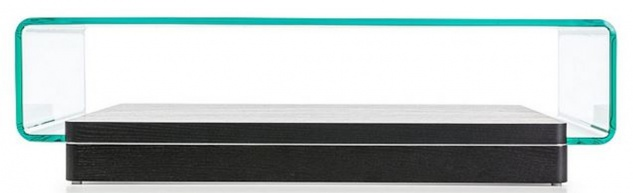 Casa Padrino Designer Couchtisch Schwarz 120 x 70 x H. 33 cm - Moderner Wohnzimmertisch - Luxus Kollektion