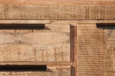Casa Padrino Landhausstil Sideboard Naturfarben 175 x 50 x H. 76 cm - Massivholz Schrank mit 2 Türen und 3 Schubladen - Wohnzimmer Möbel - Vorschau 5