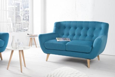 Chesterfield 2er Sofa blau aus dem Hause Casa Padrino - Wohnzimmer Möbel - Couch