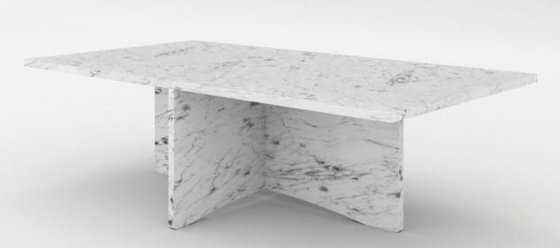 Casa Padrino Luxus Marmor Couchtisch Weiß 130 x 70 x H. 35 cm - Rechteckiger Wohnzimmertisch aus hochwertigem spanischen Carrara Marmor - Luxus Möbel