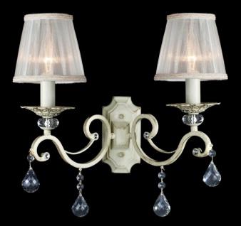 Casa Padrino Barock Kristall Wandleuchte Creme Gold 39 x H 39 cm Antik Stil - Wandlampe Wand Beleuchtung