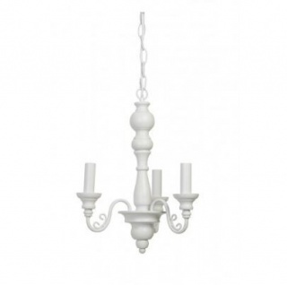 Casa Padrino Barock Decken Kronleuchter Weiß Durchmesser 33 x H 45 cm Antik Stil - Möbel Lüster Leuchter Deckenleuchte Hängelampe