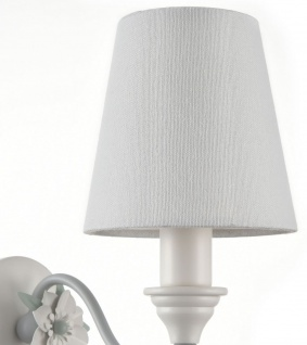 Casa Padrino Jugendstil Wandleuchte Weiß / Grau 12 x 20 x H. 23 cm - Möbel im Barock & Jugendstil - Vorschau 5