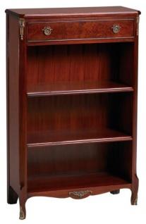 Casa Padrino Barockstil Bücherschrank mit Schublade Rotbraun 66, 5 x 29, 5 x H. 107, 3 cm - Luxus Barock Möbel