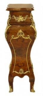 Casa Padrino Barock Säule Mahagoni / Gold - Beistelltisch - Säule H 60 x B 25 x T 25 cm