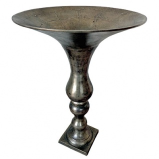 Casa Padrino Antik Stil Vase Aluminium D. 60 cm H. 88 cm - Hotel Dekoration - Barock Blumengefäss Pflanzentopf