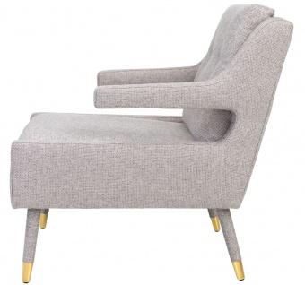 Casa Padrino Luxus Sessel Grau / Gold 76 x 88 x H. 89 cm - Wohnzimmer Sessel im Neoklassichen Stil - Designer Wohnzimmermöbel - Vorschau 3