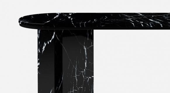 Casa Padrino Luxus Marmor Konsole Schwarz 150 x 45 x H. 90 cm - Moderner Konsolentisch aus hochwertigem Marmor - Luxus Möbel - Vorschau 2