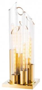 Casa Padrino Luxus Designer Tischleuchte 30 x 30 x H. 80 cm - Limited Edition