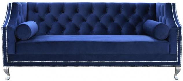 Casa Padrino Luxus Chesterfield Samt Sofa mit Kissen 172 x 84 x H. 76, 5 cm - Verschiedene Farben - Chesterfield Wohnzimmer Möbel