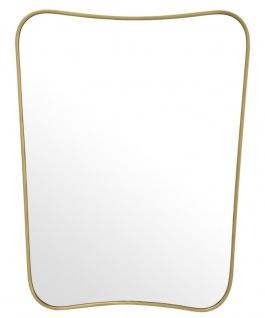 Casa Padrino Luxus Spiegel Messing 59 x H. 76, 5 cm - Designer Wandspiegel