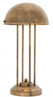 Casa Padrino Luxus Schreibtischleuchte Vintage Messingfarben Ø 26, 5 x H. 50 cm - Luxus Qualität