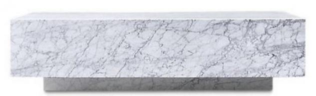 Casa Padrino Luxus Couchtisch Weiß 100 x 100 x H. 35 cm - Quadratischer Wohnzimmertisch aus Carrara Marmor - Marmortisch - Luxus Qualität - Vorschau 2