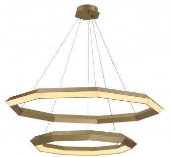 Casa Padrino Luxus LED Kronleuchter Antik Messingfarben Ø 120 x H. 245 cm - Luxus Qualität