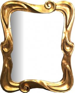Casa Padrino Jugendstil Spiegel Gold 80 x H. 100 cm - Garderoben Spiegel - Wandspiegel - Barock & Jugendstil Deko Accessoires