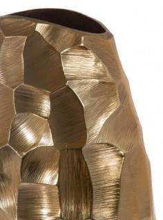 Casa Padrino Luxus Metall Vase Gold 19 x 9 x H. 30 cm - Luxus Deko Blumenvase - Vorschau 3
