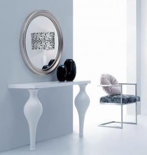 Casa Padrino Neoklassik Konsole Hochglanz Weiß 121 x 39, 8 x H. 75, 5 cm - Massivholz Konsolentisch - Möbel im Neoklassischem Stil