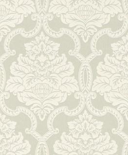 Casa Padrino Barock Textiltapete Creme / Weiß 10, 05 x 0, 53 m - Barock Tapete - Deko Accessoires