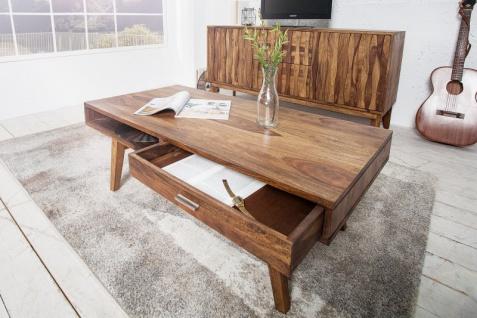 Casa Padrino Designer Massivholz Couchtisch Natur 120 x H. 40 cm - Salon Wohnzimmer Tisch - Vorschau 4