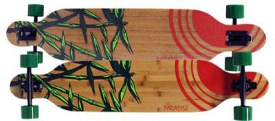Paradise Longboard Skateboard Bamboo Sun Drop Through Bamboo Complete Longboard