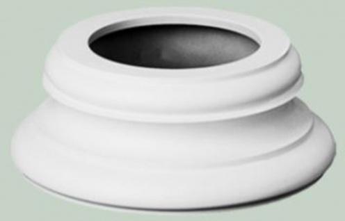 Casa Padrino Barock Zierelement Sockel Weiß Ø 32 x H. 12, 5 cm - Runder Deko Säulenfuß im Barockstil