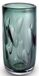 Casa Padrino Luxus Deko Glas Vase Grün Ø 14 x H. 29 cm - Elegante mundgeblasene Blumenvase - Wohnzimmer Deko Accessoires