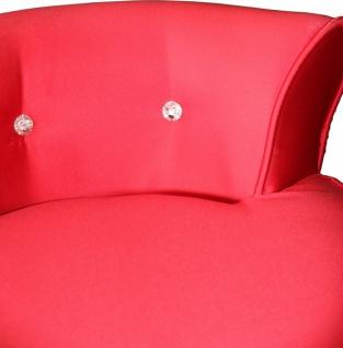 Casa Padrino Designer Hocker Boston Rot/Schwarz mit Bling Bling Steinen - Barock Schminktisch Stuhl - Vorschau 2