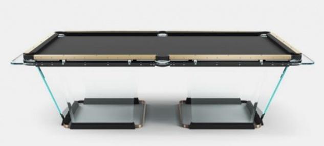 Casa Padrino Luxus Designer Pool Billardtisch 8ft Schwarz / Bronzefarben 260 x 148 x H. 82 cm - Hotel Kollektion - Luxus Qualität