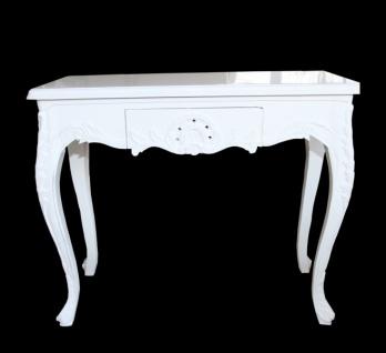 Casa Padrino Barock Konsolentisch Weiss mit Schubladen Damen Schminktisch - Antik Stil - Barock Möbel