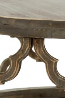 Casa Padrino Designer Couchtisch Braun Ø 80 x H. 37 cm - Moderner Runder Holz Wohnzimmertisch - Vorschau 3