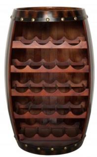 Casa Padrino Bar Weinschrank Bartisch aus Tanne Massivholz - Holzfaß Weinfaß Faßmöbel Faßschrank Hotel & Restaurant Einrichtung Möbel Tisch