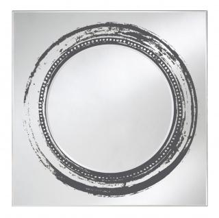 Casa Padrino Luxus Spiegel Schwarz 107 x H. 107 cm - Designer Wandspiegel