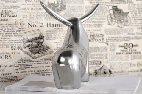 Casa Padrino Designer Aluminium Figur Bulle - Alu Dekoration massive Skulptur - Briefbeschwerer Börse Börsenbulle - Vorschau 3