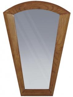 Casa Padrino Art Deco Massivholz Spiegel Braun 63 x 4 x H. 90 cm - Eleganter Wandspiegel aus hochwertigem Eschenholz - Garderoben Spiegel - Wohnzimmer Spiegel - Art Deco Möbel