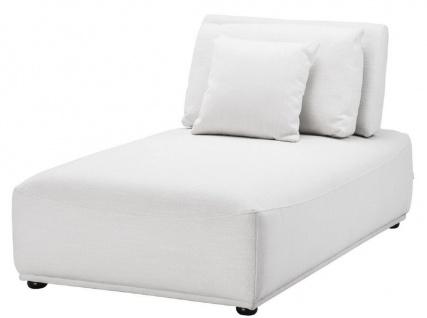 Casa Padrino Luxus Chaiselongue Weiß / Schwarz 93 x 158 x H. 83 cm - Liegesessel mit Rückenlehne und 2 Kissen - Wohnzimmer Möbel