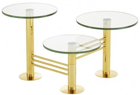 Casa Padrino Designer Wohnzimmer Beistelltisch Gold - Designer Wohnzimmermöbel