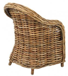 Casa Padrino Designer Rattan Sessel 70 x 70 x H. 88 cm - Luxus Wohnzimmer Möbel - Vorschau 4
