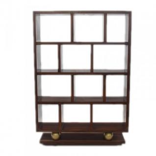 Designer Bücherregal im Barockstil Model Mahagoni Braun Höhe: 160cm, Breite: 110cm, Tiefe: 30 cm - Regalschrank - Bücherschrank