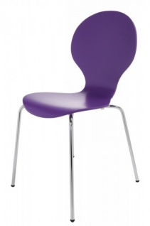 Casa Padrino Designer Stuhl Form Lila 8578 - Esszimmer Stuhl - Vorschau 2