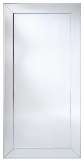 Casa Padrino Luxus Spiegel mit Aluminiumrahmen 100 x H. 200 cm - Garderobenspiegel - Wohnzimmer Spiegel - Schlafzimmer Spiegel - Luxus Qualität