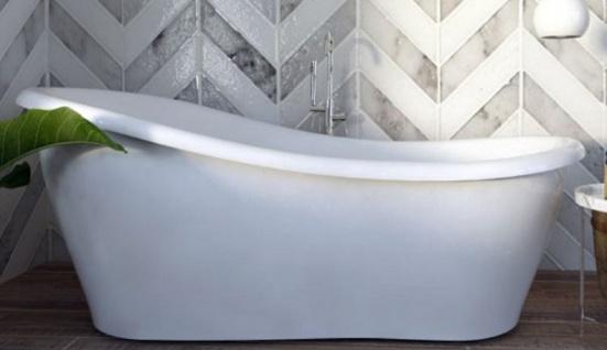 Casa Padrino Luxus Jugendstil Badewanne Weiß 170 x 80 x H. 70, 5 cm - Freistehende Retro Antik Badewanne - Badezimmer Möbel