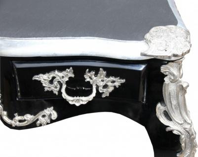Casa Padrino Luxus Barock Schreibtisch Schwarz / Silber Sekretär Luxus Möbel - Vorschau 3