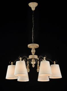 Casa Padrino Barock Kristall Decken Kronleuchter Eiche Antique 62 x H 41 cm Antik Stil - Möbel Lüster Leuchter Hängeleuchte Hängelampe