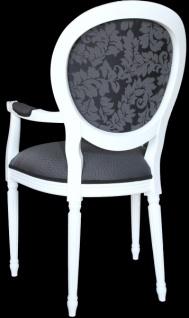 Casa Padrino Barock Esszimmer Stuhl Mit Armlehne Grau Weiss