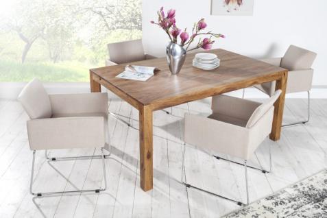 Casa Padrino Designer Stuhl mit Armlehnen Creme 55cm x 80cm x 60cm - Büromöbel - Vorschau 3