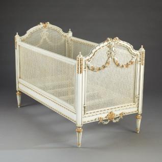 Casa Padrino Luxus Barock Baby Bett Louis XVI Antik Weiß/Gold