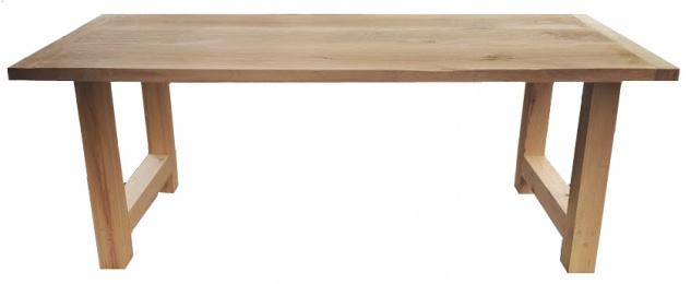 Casa Padrino Luxus Massivholz Esstisch - Eiche - 200 cm x 100 cm x H78 cm - Schwere Ausführung